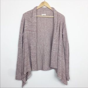 Silence & Noise Mauve Pink Open Waterfall Cardigan